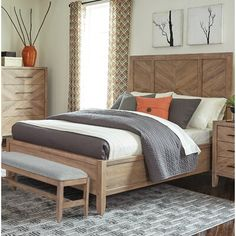 Bucyrus Solid Wood Low Profile Standard Bed | Joss & Main