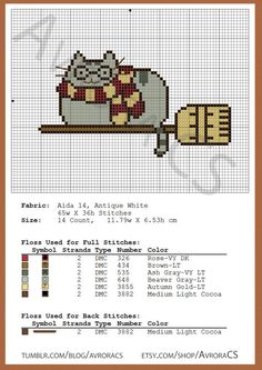 Ponto Cruz, Cross Stitch, XStitch, Harry Potter, Cat, Gato