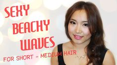 Sexy Beachy Waves Hair Tutorial ♡ for Short to Medium Hair (using Remington curling wand) - BonnieBeautyxo