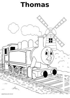 Thomas-de-trein kleurplaat - Thomas train coloring