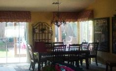 This french themed dining room boasts custom awnings I designed and had made.