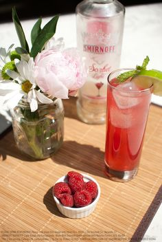 Pomegranate Berry Punch :: 1.5 oz SMIRNOFF SORBET™ Light Raspberry Pomegranate, 2 oz diet ginger ale and 1 oz cranberry juice.
