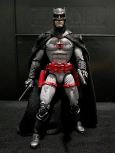 Flashpoint Batman (Thomas Wayne) custom action figure from the Marvel Legends series using Marvel Legends Spidey U. as the base, created by Caped Creator Customs. Dc Comics Action Figures, Batman Figures, Star Wars Action Figures, Custom Action Figures, Action Toys, Star Wars Clone Wars, Star Wars Art, Star Trek, Comic Book Tattoo