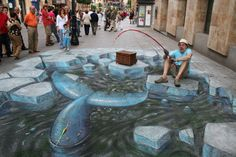 Amazing 3D Sidewalk Chalk Art 7 by dwightgenius, via Flickr