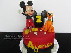 Doces Opções: O Mickey e o Pluto foram ao aniversário do Afonso