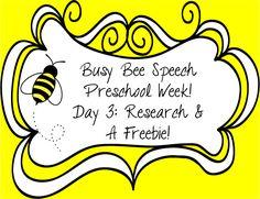 Preschool Week Day 3: Research & A Freebie! EBP ideas for preschool and a Valentine freebie for early artic