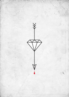 Arrows can only be shot forward, so no matter what you go through, keep piercing forward, diamond represents life and hardships, the blood drop is the reminder of the lessons learned.