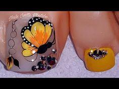 Pedicure Nail Art, Toe Nail Art, Gel Nails, Manicure, Pretty Toe Nails, Pretty Toes, Love Nails, Gold Nail Designs, Acrylic Nail Designs