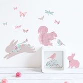 Mini Vintage Floral Woodland Wall Stickers