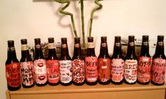 DIY Customized Beer Bottles - awesome, creative Valentine's Day gift for him!