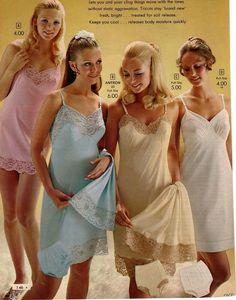 Little Girls Catalog Vintage Petticoats Slips Vintage Slip, Vintage Mode, Classic Lingerie, Retro Lingerie, Sexy Lingerie, Satin Lingerie, Satin Slip, Slip On, Lingerie Catalog