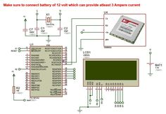 wireless electronics notice board using gsm with code