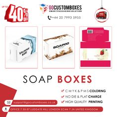 Custom Printing, Soap Boxes, How To Attract Customers, Handmade Soaps, Box Packaging, Design Your Own, Awkward, How To Look Pretty, Make It Yourself