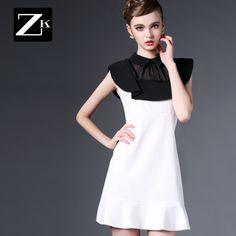 ZK Europa 2015 stație pilot de cusut nou vară femei rochie rochie rochie subțire a fost tifon