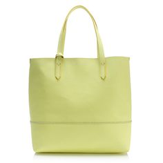 J.Crew women's Downing tote in citron.