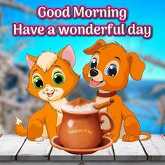 Good Morning, Have a wonderful day - Megaport Media Good Morning Wishes Gif, Good Morning Cat, Good Morning Gif Images, Funny Good Morning Memes, Good Morning Sister, Good Morning Happy Friday, Good Morning Beautiful Quotes, Good Morning Inspirational Quotes, Good Morning Picture