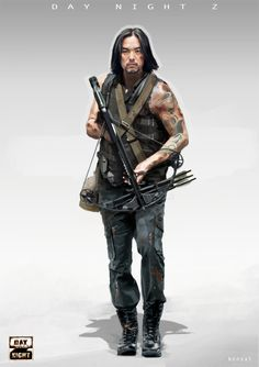 Character desin for Daynight Z, Creating games company Apocalypse Character, Apocalypse Art, Apocalypse Survivor, Character Portraits, Character Art, Character Design, Gangsters, Cyberpunk, Walking Dead