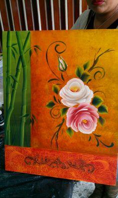 Pinceladas con rosas
