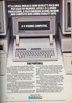 Hewlett Packard Portable Computer.