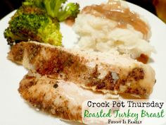 Don't wait for Thanksgiving to make this delicious Crock Pot Roasted Turkey Breast! We love the rub in this recipe, and use it on our holiday turkey!