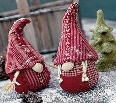 Kerstmannetje van stof