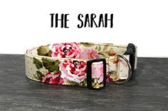 Elegant Rose Dog Collar Beautiful Floral Collar by SoFetchCompany