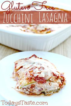 Zucchini Lasagna {Gluten Free} from www.onegoodthingbyjillee.com #paleofy #grainfree