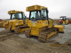 John Deere bulldozers r-l:450J LGP & 650K