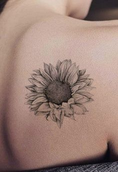Black And White Sunflower Tattoo Designs Sunflower Tattoos