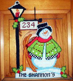 Lamp Post Snowman 1/6