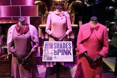 The new Dark Arts section at the Harry Potter studio tour, Warner Bros Studios near Watford --- As well as Professor Umbridge's shoes, kitten plates, office and little china pots for putting things in - horrible things probably - you see some of the costumes that Imelda Staunton wore to play her. As Umbridge's power grew, the shade of pink deepened. And there we were thinking black was the colour of evil.