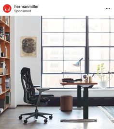 Herman Miller - Modern Furniture for the Office and Home Herman Miller, The Office, Sit To Stand, Wooden Desk, Man Cave, Modern Furniture, Contemporary, Home Decor, Work Spaces