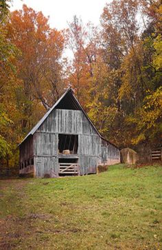 Old Rural Farm Barn. I love the colours in this picture and the peacefulness.