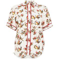 Mattea Shirt ($135) ❤ liked on Polyvore featuring tops, blouses, white top, baum und pferdgarten, white blouse, shirt blouse and white shirt