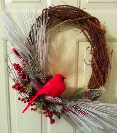 Seasonal Winter Wreath Christmas Grapevine by ShadesOfTheSeasons