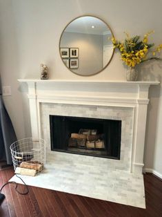 BEFORE- Fireplace Makeover- DIY Decor Tips