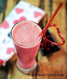 Watermelon, Raspberry. Pomegranate, Greek Yogurt Healthy Smoothie