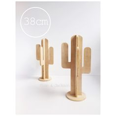 Created from ply wood, these cacti are based off the iconic cactus silhouette. Easy to assemble - simply slide into position. Assembled cactus stands approximately 38cm high and is free standing. *Please note this listing is for one cactus. Colour and grain of ply may vary. For multiple item purchases, please email us and we can calculate appropriate postage costs.