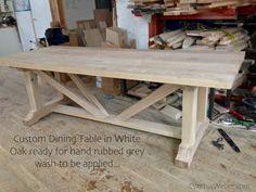 Custom Dining Table in White Oak CynthiaWeber.com