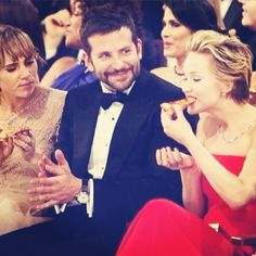 Jennifer Lawrence. Eating pizza. At the Oscars. You're welcome