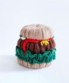 knitted hamburger