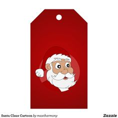 Santa Claus Cartoon Pack Of Gift Tags