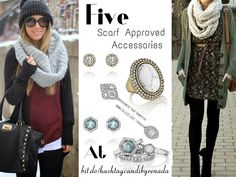 It's still #cold out and so scarfs are still needed, but that doesn't mean you can't accessorize! Here are five #scarf approved #accessories from #candibyrenada ranging from $22 - $48! Shop now at http://www.hashtagcandibyrenada.com and you'll be battling the #winter cold in #style!  #sweaterweather #boho #scarf #classic