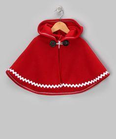 Sew Darn Quilt Red Rickrack Poncho - Infant, Toddler & Girls