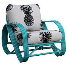 I have this chair frame for my outdoor space.  I love the color and pattern.  Maybe I will paint this spring instead of cleaning the drab white frame.