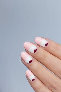 pink and white nails, cmeo summer 2018 | Pinterest: Natalia Escaño