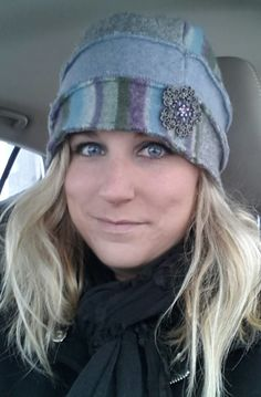 Cloche Hats crafted from felted recycled wool sweaters!!!!!!  Purchase at www.facebook.com/ecocreationsbypam