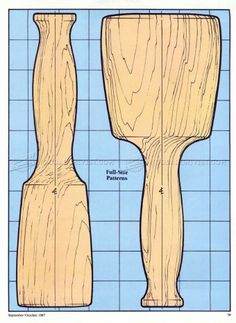 #222 Wooden Mallet Plans - Hand Tools Tips and Techniques