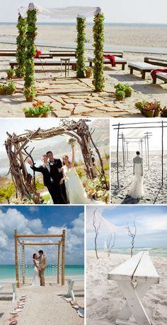 Beach Wedding Ceremonies   The Destination Wedding Blog - Jet Fete by Bridal Bar