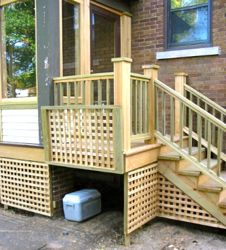 lattice+panels+for+porches | add deck skirting for your raised ... - Patio Lattice Ideas
